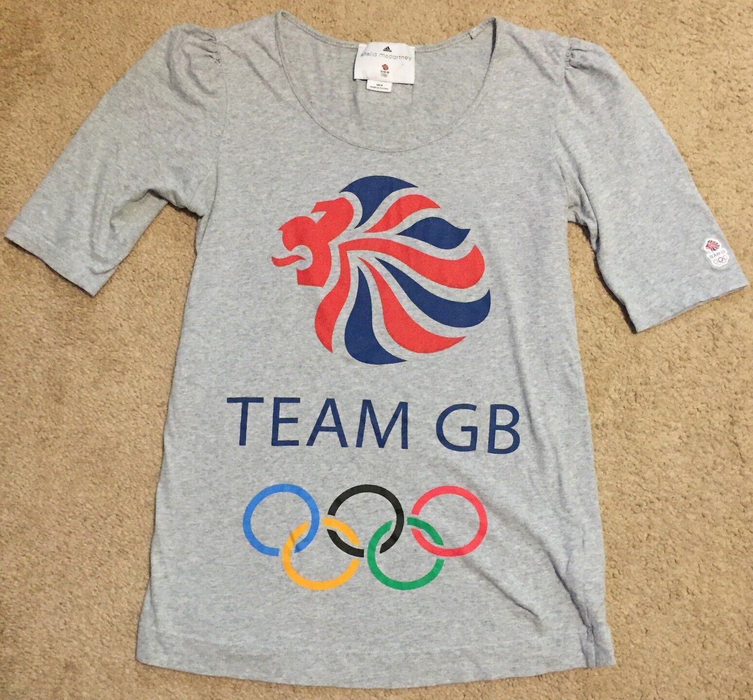Adidas Stella McCartney Tee shirt Femme Olympique UK 8 Team GB à manches courtes