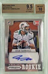 Ryan-Tannehill-2012-Panini-Prizm-Rookie-Autograph-250-BGS-9-5-10-Gem-Mint
