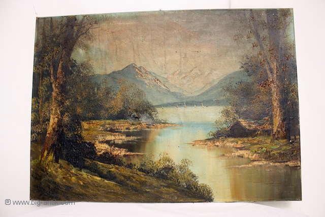 Zauberhaftes Öl Gemälde auf Leinwand   Herbstlandschaft   Bachlauf   Meisterwerk