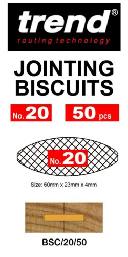 No.20 Quality Trend BSC//20 Biscuits for Biscuit Jointers Various Pack Sizes