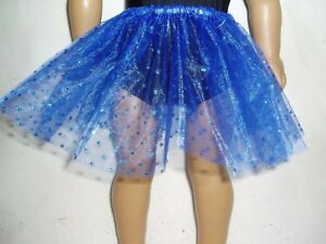 Blue-Sparkly-Dot-Basic-Tutu-18-034-Doll-Clothes-Fits-American-girl-dolls-Handmade