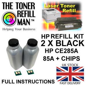 Toner-Refill-Kit-For-Use-In-HP-LaserJet-Pro-M1132-MFP-CE285A-Black-85A-Chips