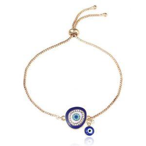 Evil-Eye-Charm-Bracelet-Enamel-Turkish-Jewelry-Charms-Blue-Free-Shipping-USA