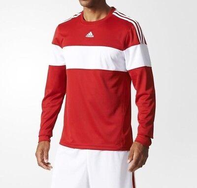 Adidas Commander Shooter Mens Crew Sweatshirt Long Sleeve Top T Shirt F93788 Red | eBay