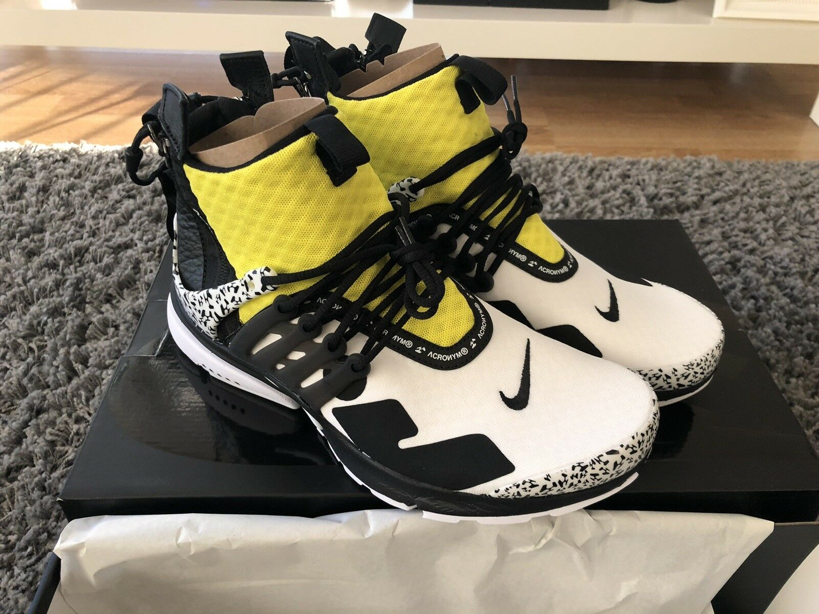 NIKE AIR PRESTO MID UTILITY X ACRONYM DYNAMIC YELLOW UK7