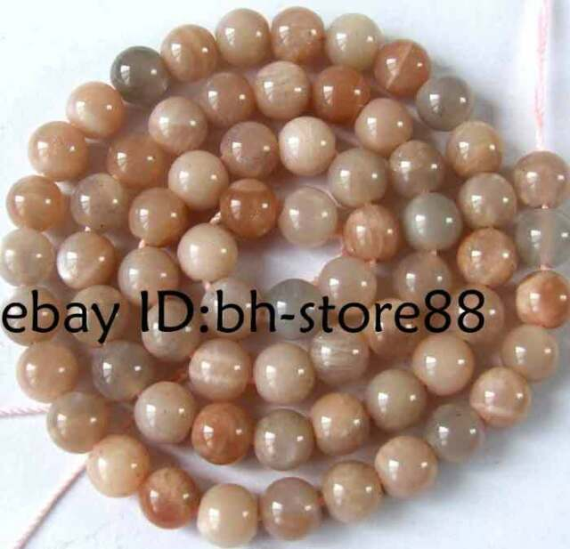 Natural Sunstone 6mm Round Gemstone Beads 15.5""