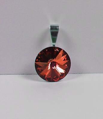 Diplomatisch Neu KettenanhÄnger 14mm Swarovski Stein Copper/dunkelorange/orange AnhÄnger Professionelles Design