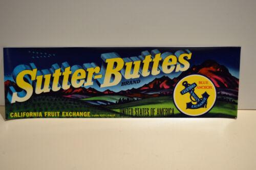 Sutter-Buttes Grape Crate1940 Mint Label Look!