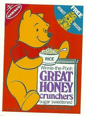 WINNIE-THE-POOH  Cereal   Retro Vintage ** HQ FRIDGE MAGNET **