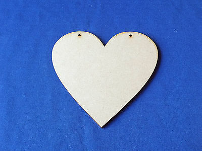 Wooden MDF BUNTING Hearts Craft Shapes Blanks 7.5cm 10cm 12.5cm 15cm x 3mm