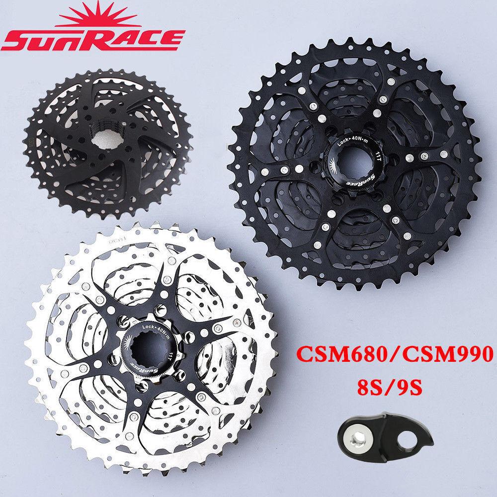 SunRace 8 9 Speed 11-40T Shimano Bicycle Cassette MTB Bike FreeWheel Derailleur