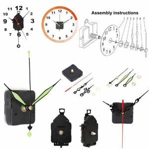 Details about Mute Pendulum Clock Movement Mechanism Parts + Hands Repair  Replacement