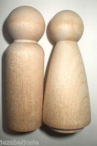 wood-peg-doll-9cm-Large-couple-peg-dolls-Man-lady-wedding-topper