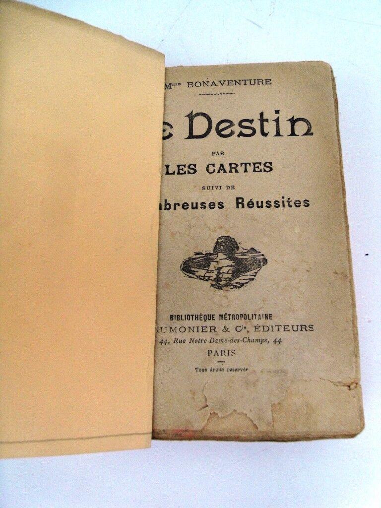CARTES A JOUER (TOURS DE CARTES+DESTIN PAR LES CARTES)- 2 Livres 1908 -Cartes II