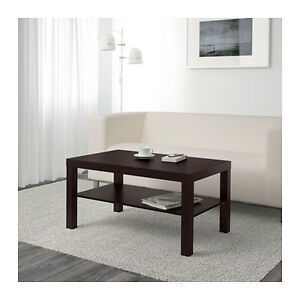 Image Is Loading Coffee Table Lack Side End Black Brown Tv