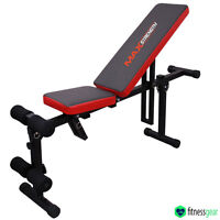 Adjustable Exercise Flat Bench Incline Decline Weight Lifting Abs Crunch Gym