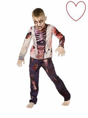 Child Headless Horseman Costume Halloween Horror Zombie Boys Fancy Dress Outfit