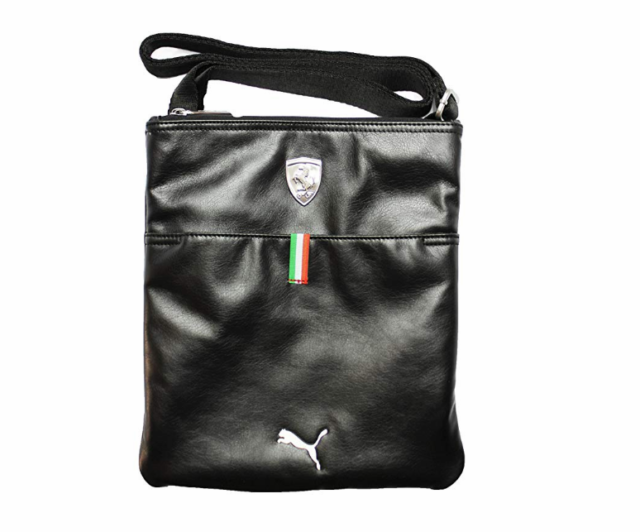 09ecd15d257 PUMA PMMO1036BLK FERRARI LS MAGAZINE BAG Black Polyurethane Cross-Body Bag
