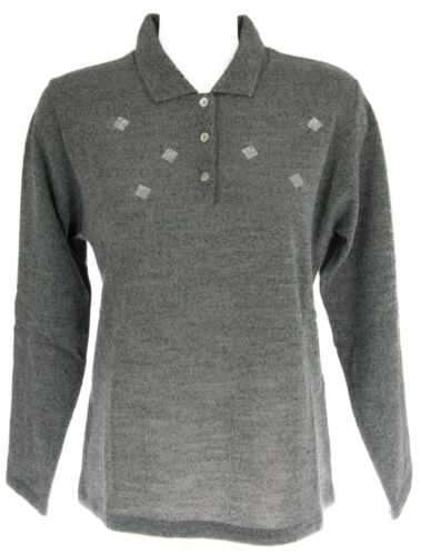 Italie 1006 A Shirt grigio T Femme Strass xl Polo Col Pull Rismel nTPSWYTq1