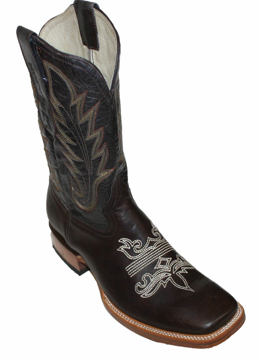 Uomo Genuine Cowhide Pelle Western Cowboy square square square toe rodeo  BOOTS  79.99 91007e