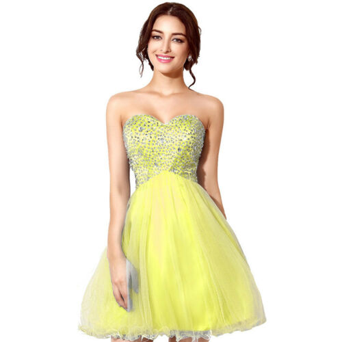 Short Sequin Homecoming Prom Junior Dress Girls Cocktail Ball Bridesmaid Gown 12