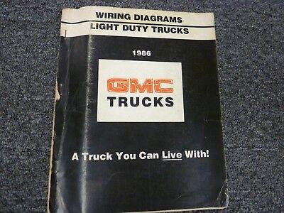 1986 GMC C1500 C2500 C3500 Pickup Truck Electrical Wiring ...