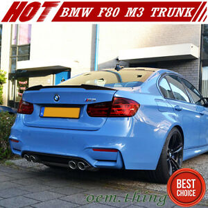 Details About Carbon 3 Series V Style Rear Trunk Spoiler Bmw F30 F80 M3 328i 335i 320i