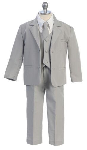 Toddle Suits Boys Black Gray Kids Children Formal Party Suit Size S-XL 2T-5T New