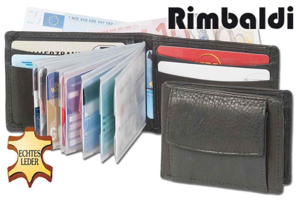 + Geldbörse Geldbeutel MINI-GELDBÖRSE - Rindsleder Schwarz 4801609