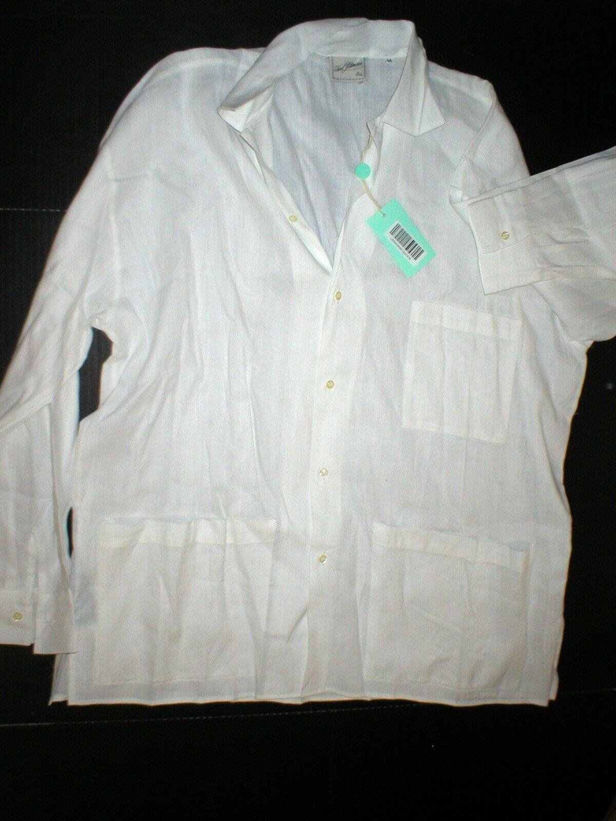 New Mens NWT Karl Bittmann  Button Down Shirt M L XL XXL Cotton Linen