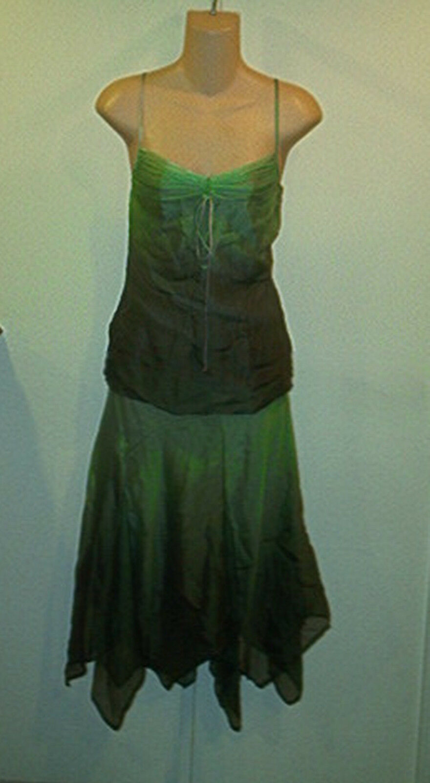Laundry  Shelli Segal NWT  390 Silk Ombre  Skirt  &  Cami Tank Top  Outfit