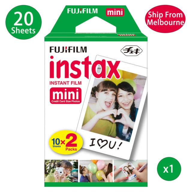 20 Sheet Fujifilm Instax Mini Film Fuji instant photos 7s 8 90 25 Polaroid 300
