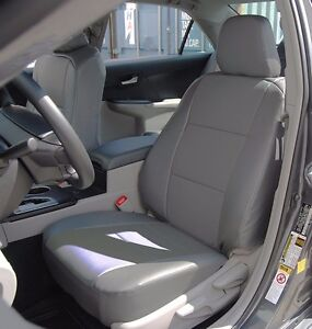 toyota camry 2012 2016 grey iggee s leather custom fit front seat cover ebay. Black Bedroom Furniture Sets. Home Design Ideas