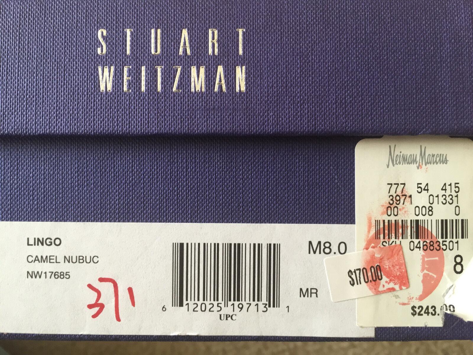 Nuevo En Lingo Caja Stuart Weitzman Lingo En Nubuck fumar Mocasín 5.5 6 6.5 7 7.5 8 8.5 Stud 6b0a4c