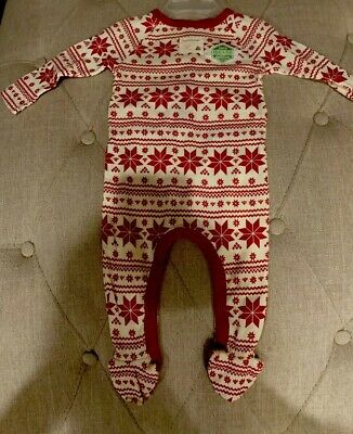 New Jammies Christmas Organic Baby Footie