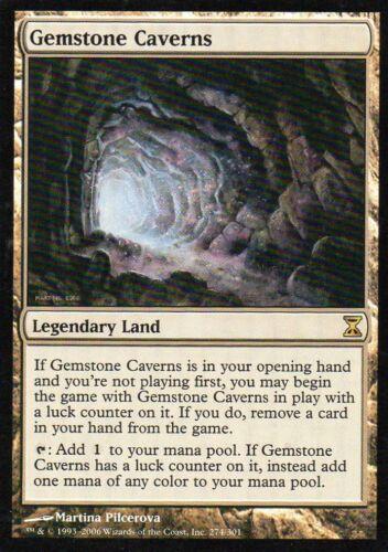 Magic Mtg Time Spiral Gemstone Caverns   near mint