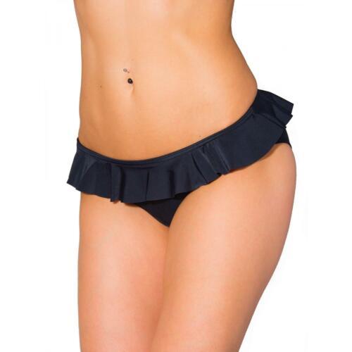 Aquarti Damen Bikini Hose mit Rüschen