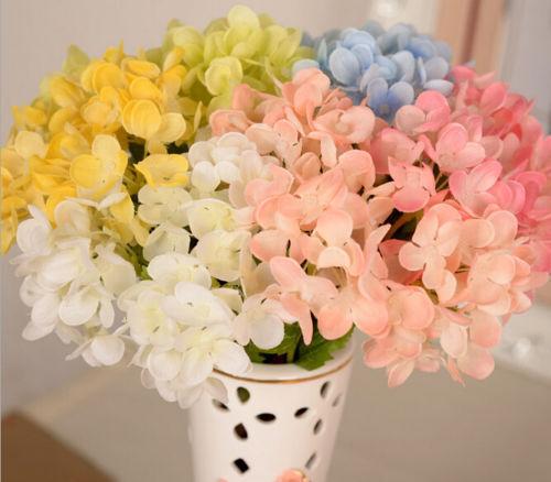 Rose Silk Flower Artificial Hydrangea Bouquet Wedding Bridal Party Home Decor BY
