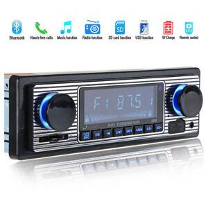 Classic-Car-Stereo-Bluetooth-MP3-Audio-Retro-Radio-Player-FM-USB-AUX-amp-Remote-Z