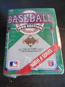 1990 Upper Deck Baseball High # Series Box Factory Sealed