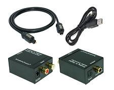 SunshineTronic Analog zu Digital Konverter mit USB-DC Kabel + 1,5m Toslink