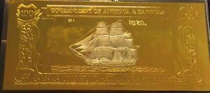 GOLD 23k Banknote Antigua