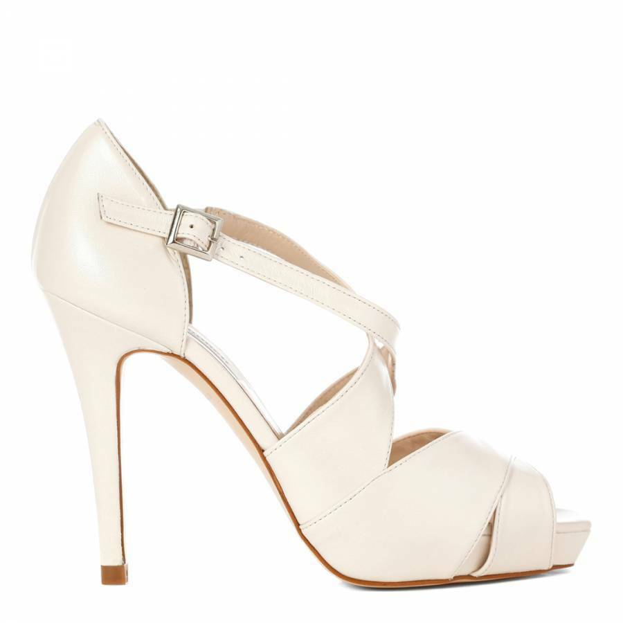 NEW was  LK BENNETT UK8 EU41 'OSANDY' PEARL OFF OFF OFF WHITE - BRIDAL WEDDING PARTY e92729