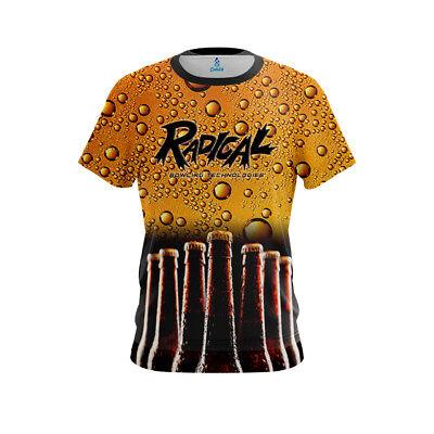Radical Men/'s Dye Sub Neurons CoolWick Performance Crew Bowling Shirt