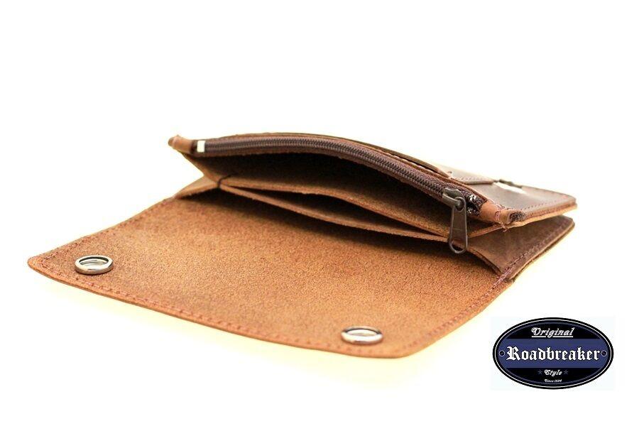 Geldbörse braun Bikerwallet Geldbeutel Portmonee Geldbörsen Geldbörsen Geldbörsen Modell Nubukleder  | Verschiedene Arten Und Die Styles  57547d
