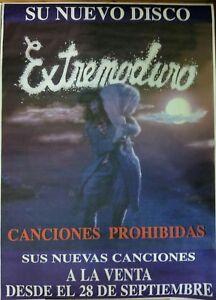 EXTREMODURO-CANCIONES-PROHIBIDAS-PROMO-POSTER-100cm-X-140cm-MUY-RARO