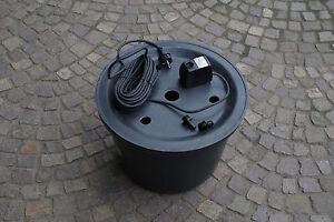 PE-Becken-45-cm-inkl-Pumpe-und-Gfk-Abdeckung-Brunnen-Wasserspiel-Quellstein