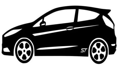 Free P/&P Ford Fiesta ST MK7 Outline Vinyl Sticker Decal Fiesta ST 2008