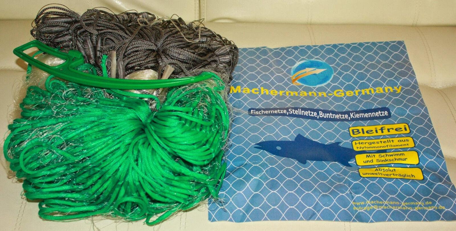 Stellnetz,Fischnetz,Spiegelnetz,3 Wandig, Finland Netz.1,8x30 m,40 mm Top Preis