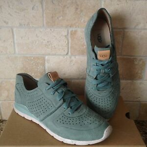 7cf84b22992 Details about UGG TYE ALOE VERA NUBUCK LEATHER SNEAKERS SHOES SIZE US 10  WOMENS 1016674